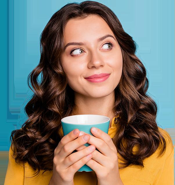Woman enjoying UCARI Tea