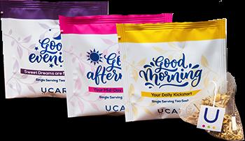 UCARI tea packets